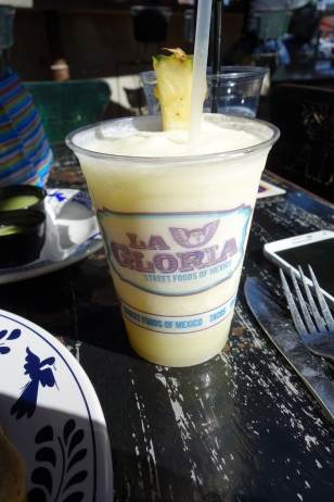 First stop, La Gloria for a pina colada and lunch!