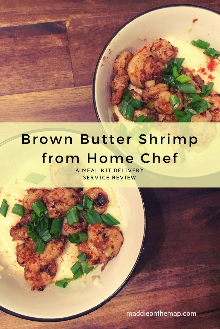Brown Butter Shrimp from Home Chef meal kit delivery service