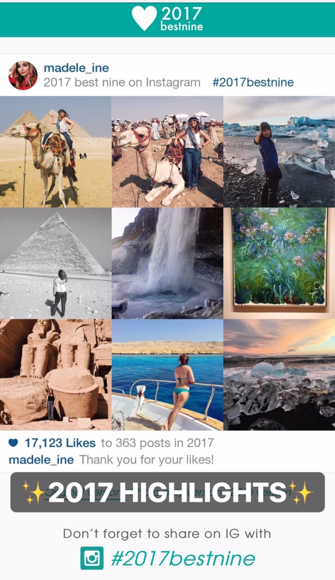 2017 Best Nine on Instagram