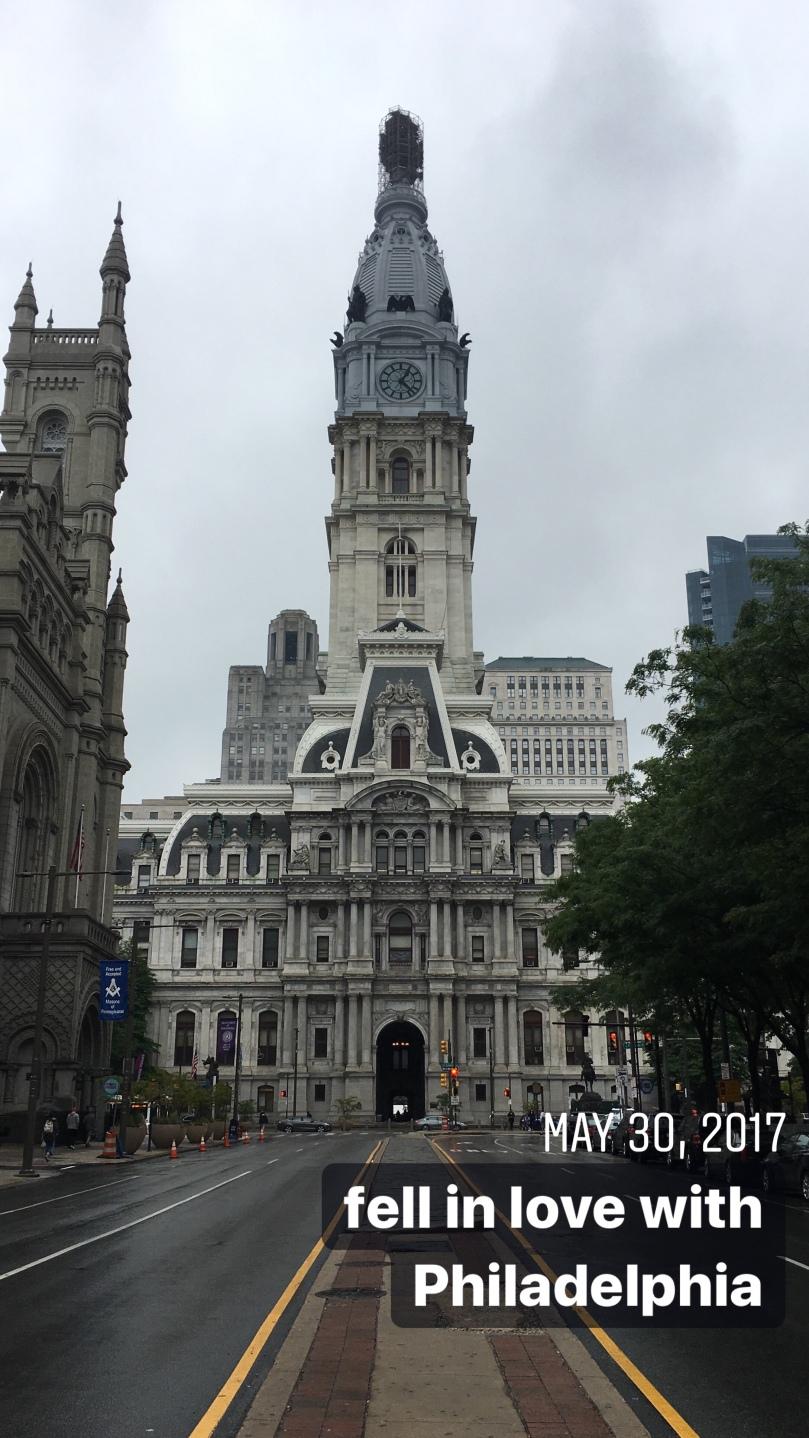 fell in love with Philadelphia