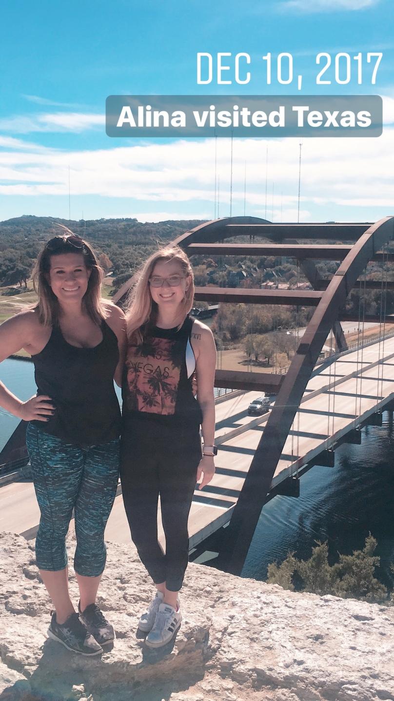 Alina visited Texas